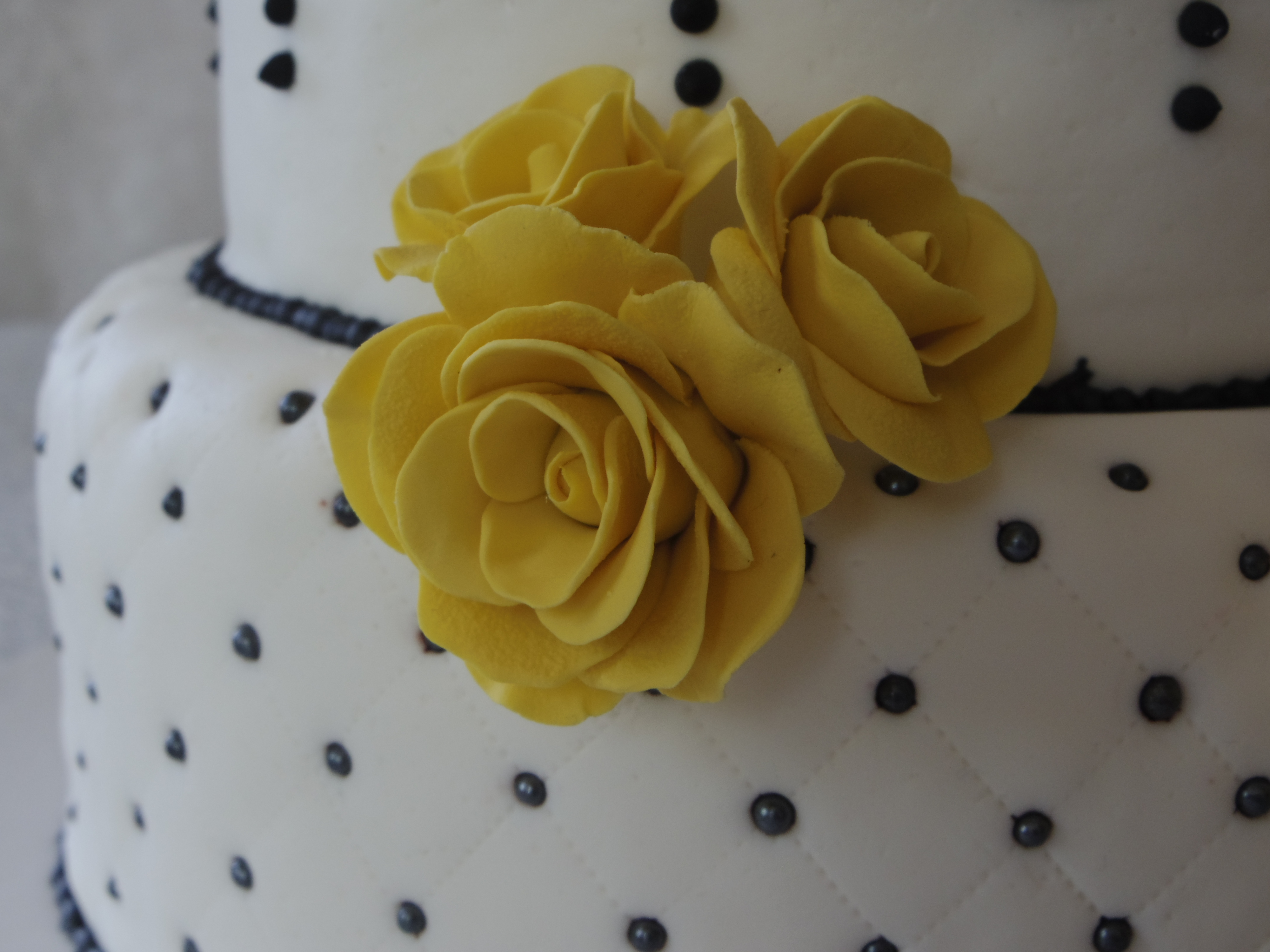 Black and white and yellow the frosted kitchen yellow roses mightylinksfo